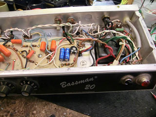 Fender Bassman 20 chassis